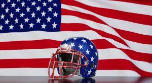 NFL Kopfschutz amerikanische Flagge