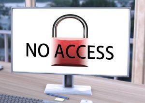 No Access Meldung auf PC Bildschirm