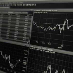 Der Graph eines Börsen-Charts
