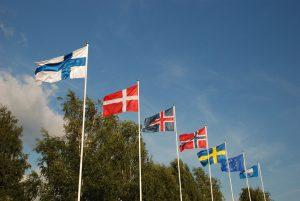 Flaggen skandinavischer Länder
