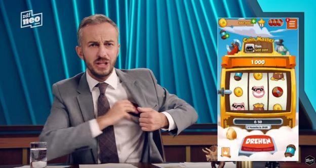 Jan Böhmermann, Spielautomat, Coin Master Spiel
