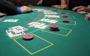 Blackjack Tisch Nahaufnahme