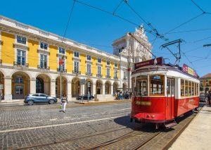 Lissabon, Straßenbahn, Portugal