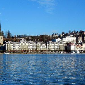 Blick auf Luzern, Schweiz
