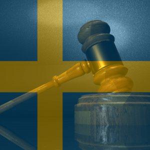 Schwedische Flagge Richterhammer
