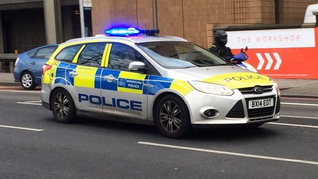 englisches Polizeiauto