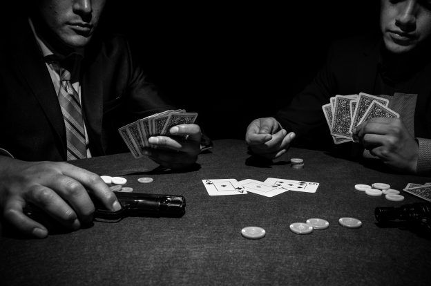 Pokerrunde Mafia Gangster