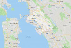 Landkarte Oakland Kalifornien