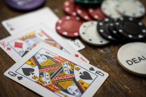 Spielkarten und Jetons