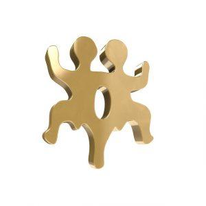 Ein Puzzle-Teil in Zwillingsform