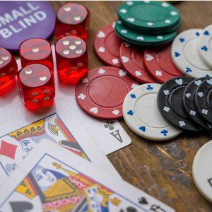 Karten Spielchips Würfel Glücksspiel