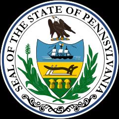 Das Staatswappen von Pennsylvania
