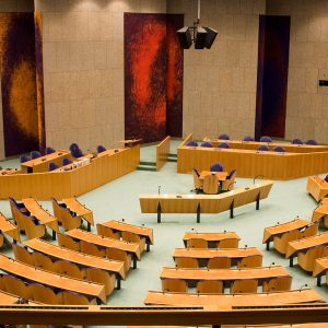 Zweite Kammer des niederländischen Parlaments in Den Haag