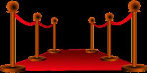 Animation eines roten Teppich