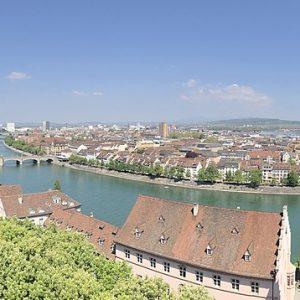 Basel Blick über die Stadt