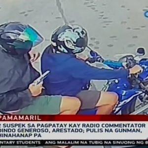 Täter mit Pistole auf Motorrad