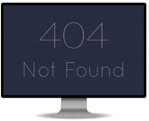 404 Not Found Fehlermeldung