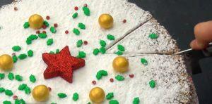 Kuchen, Puderzucker, Kugeln, Sterne