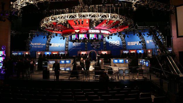 Eine Bühne während der WSOP 2015