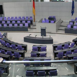 Innenraum des Bundestags
