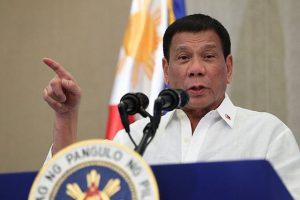 Rodrigo Duterte bei einer Ansprache