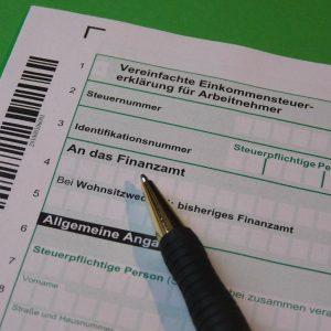 Ein Steuervordruck und Stift