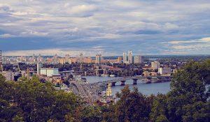 Eine Stadtansicht von Kiev