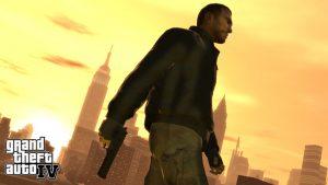 GTA Screenshot Charakter mit Waffe