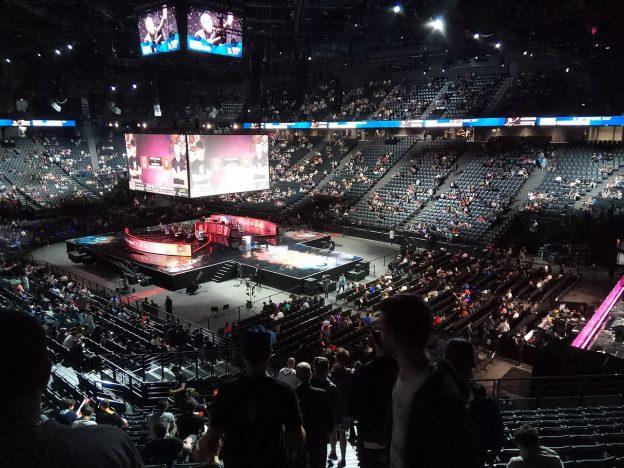 Eine E-Sport-Arena in Paris
