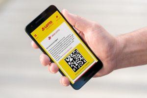 Hand, Smartphone, Lotto-App