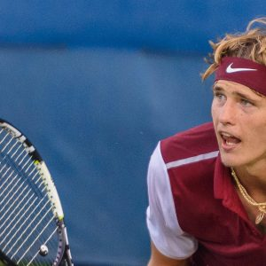 Alexander Zverev auf dem Tennisplatz