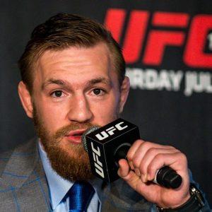 Conor McGregor bei einer Pressekonferenz
