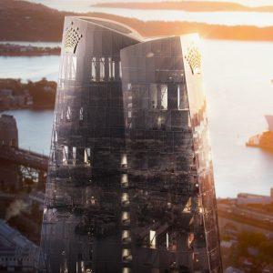 Gebäude, Meer, Hafen, Reflexionen