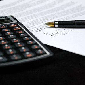 Taschenrechner und Dokument