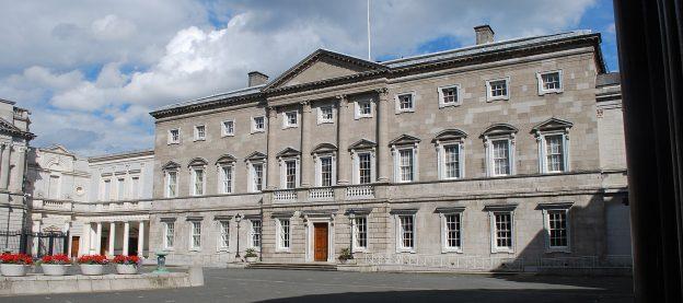 Leinster House, Sitz des irischen Unterhauses, Dáil Éireann