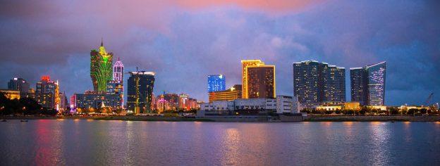 Macau Skyline Abenddämmerung