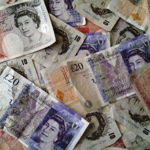Britische Pfund GBP Banknoten Geldscheine