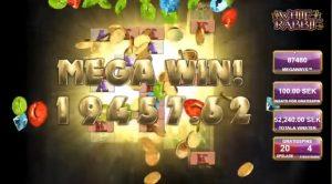 Spielautomat, Geldmünzen, Mega Win