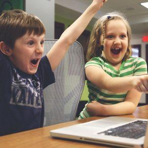 Kinder Videospiel Laptop