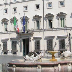 Palazzo Chigi, Sitz des italienischen Ministerpräsidenten, Regierung Italien