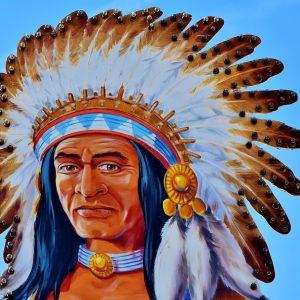 Indianer Häuptling Zeichnung