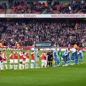 Premier League Spiel Arsenal gegen Wigan