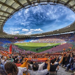 AS Roma spielt im Stadio Olimpico Rom