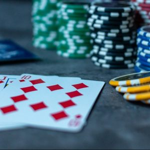 Poker-Karten und Chips