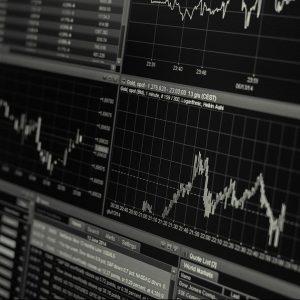 Der Chart einer Aktien-Handelssoftware