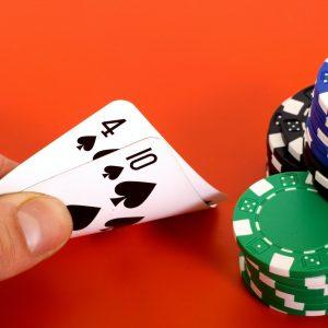 Spielkarten, Chips, Hand