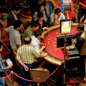 Menschen, Spieltisch, Casino