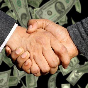 Handschlag, Geld, Händeschütteln