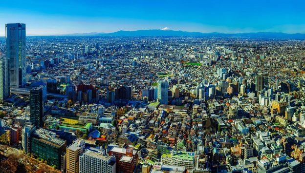 Tokio aus der Luft