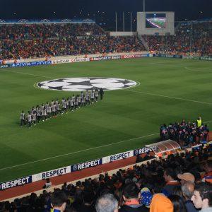 Fußballstadion, Spiel APOEL gegen Real Madrid